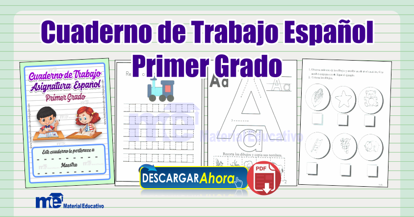 Cuaderno de Trabajo Español Lectoescritura Primer Grado Primaria