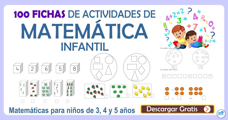 100 FICHAS DE ACTIVIDADES DE MATEMÁTICA INFANTIL