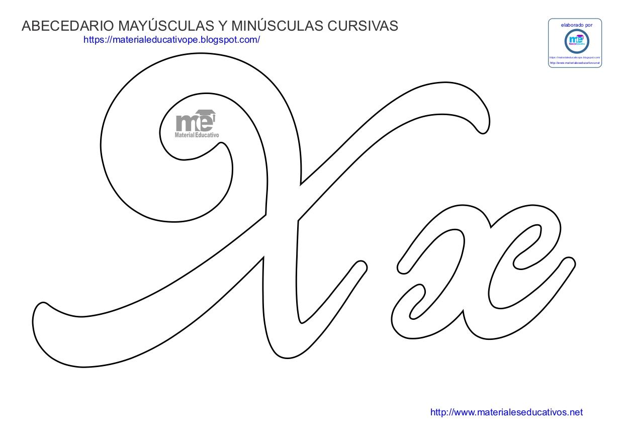 Letra E Minuscula Cursiva Para Colorear