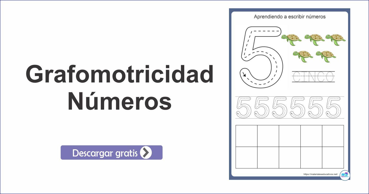 Ficha de grafomotricidad del número 5