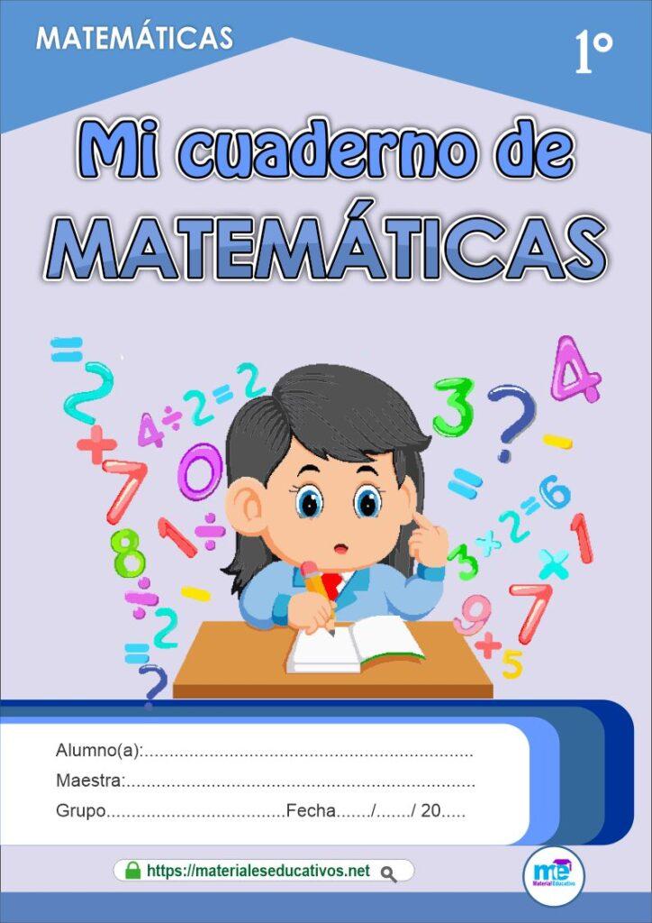 Cuaderno de matemáticas primer grado